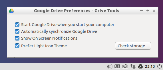 how to manually sync google drive