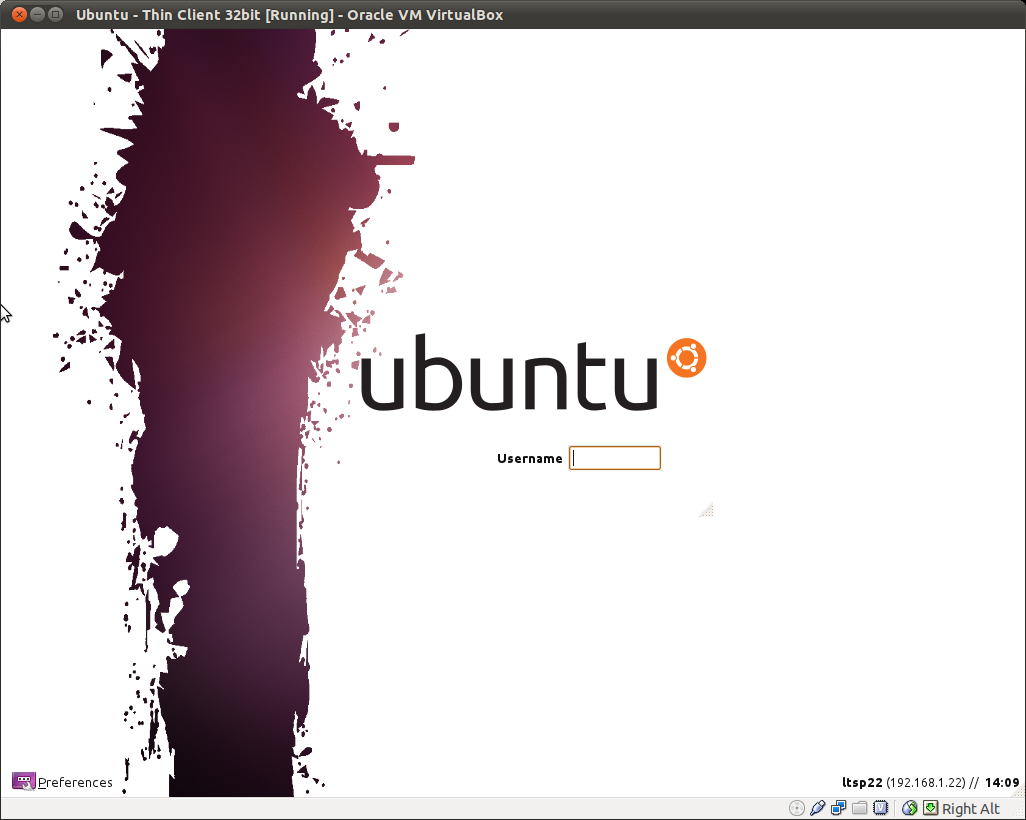 Image result for thin client logon screen ubuntu