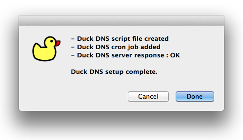Free IP DDNS service Duck DNS setup script for Linux and OSX